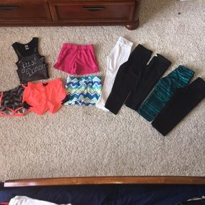 Workout/athletic/dance type clothes bundle
